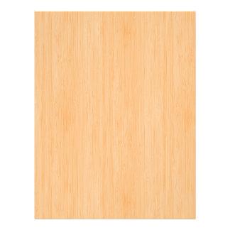 Peach Bamboo Wood Grain Look 21.5 Cm X 28 Cm Flyer