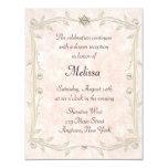 Peach Bat Mizvah Reception 11 Cm X 14 Cm Invitation Card