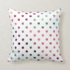 Peach Berry Teal Polka Dots Cushion