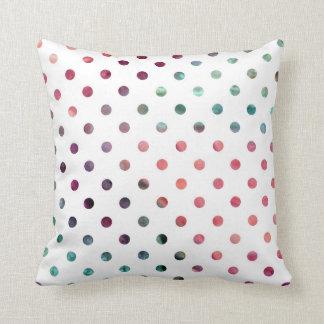 Peach Berry Teal Polka Dots Cushion