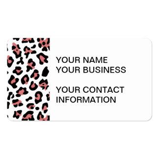Peach Black Leopard Animal Print Pattern Business Card