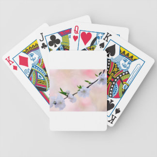 Peach Blossom Bicycle Playing Cards