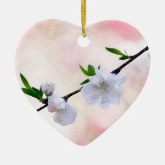 Peach Blossom Ceramic Ornament