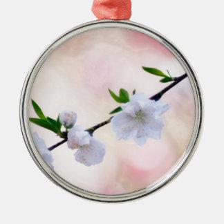Peach Blossom Metal Ornament