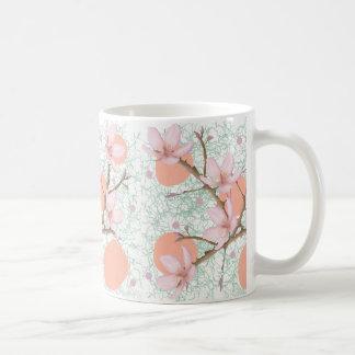 Peach Blossom Pattern Coffee Mug