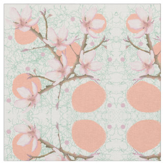 Peach Blossom Pattern Fabric