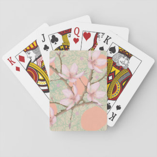 Peach Blossom Pattern Playing Cards