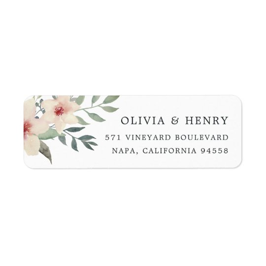 Peach Blossom Return Address Return Address Label