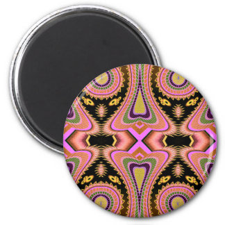 Peach Blowfish Groovy Moves 6 Cm Round Magnet