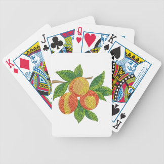 peach branch, imitation of embroidery bicycle playing cards
