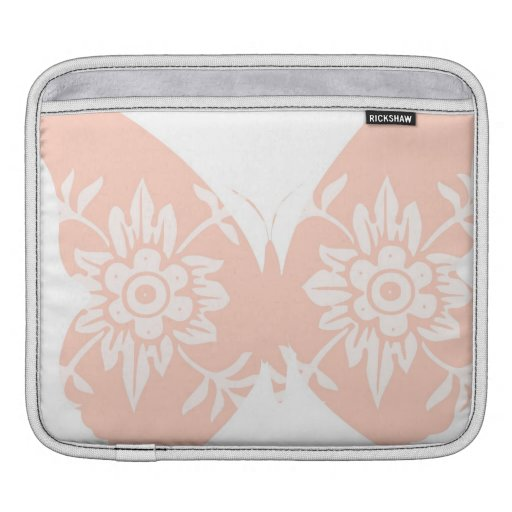 Peach Butterfly Floral Sleeves For iPads