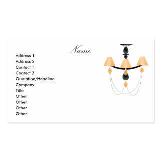 Peach Chandelier Pack Of Standard Business Cards
