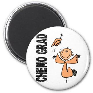 Peach CHEMO GRAD 1 (Uterine Cancer) 6 Cm Round Magnet