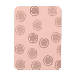 Peach Circle Dots Rectangular Photo Magnet