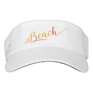Peach Color Beach Stylized Swirl Font Visor