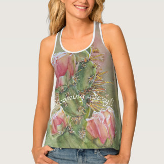 PEACH COLORED PEAR CACTUS FLOWERS SINGLET