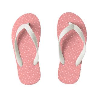 Peach-Coral-Polka-Dots--Kids-Multi-Styles_Colors Kid's Thongs