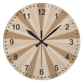 Peach Cream Sunburst Clock