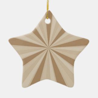 Peach Cream Sunburst Ceramic Star Decoration