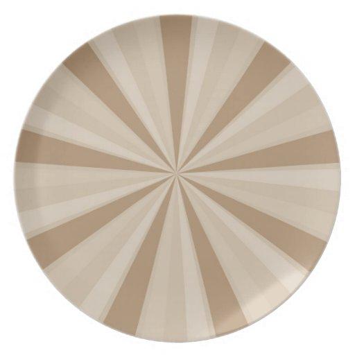 Peach Cream Sunburst Plates