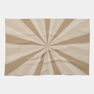 Peach Cream Sunburst Kitchen Towels