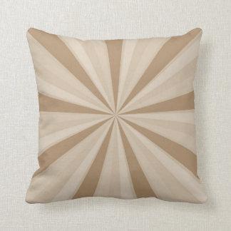 Peach Cream Sunburst Throw Cushions