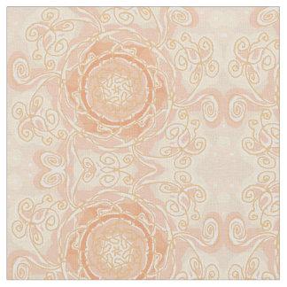Peach/creams/beige swirls fabric