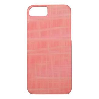 Peach criss cross iPhone 7 case