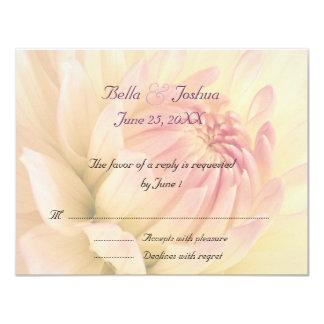 Peach Dahlias RSVP 11 Cm X 14 Cm Invitation Card