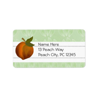 Peach Design.  Customize Label