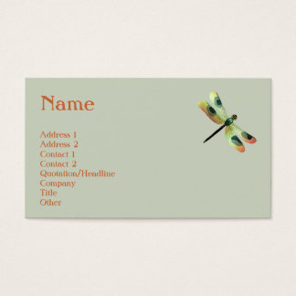Peach Dragonfly Profile Card