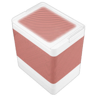 Peach Echo and Black Stripe Cooler