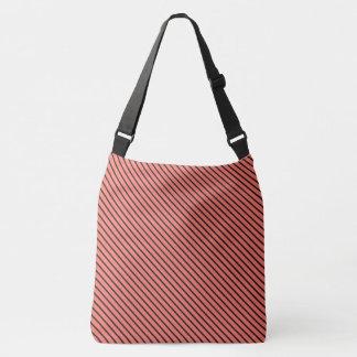 Peach Echo and Black Stripe Crossbody Bag