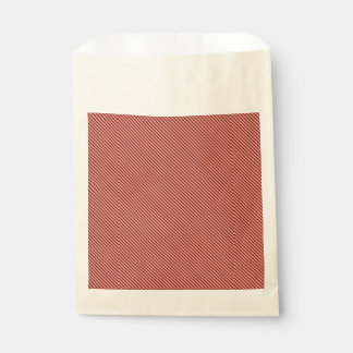 Peach Echo and Black Stripe Favour Bag