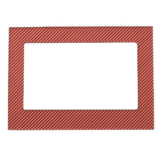 Peach Echo and Black Stripe Magnetic Frame