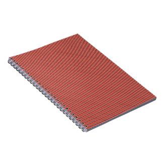 Peach Echo and Black Stripe Notebooks