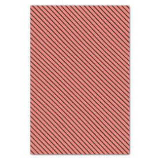 Peach Echo and Black Stripe Tissue Paper