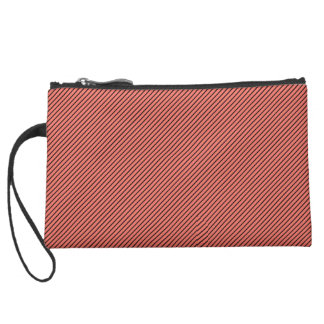 Peach Echo and Black Stripe Wristlet Clutches