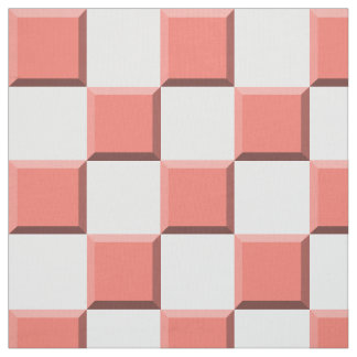 Peach Echo Edge Illusion Checkerboard Fabric