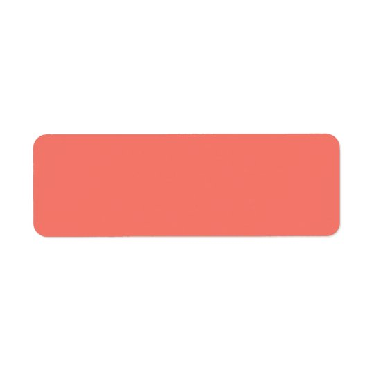 Peach Echo Peachy Orange Colour Background Salmon Return Address Label