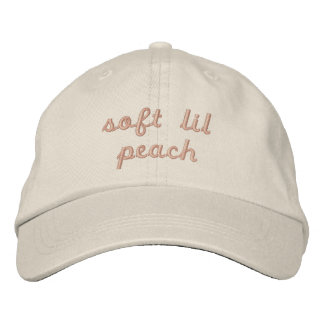 Peach Embroidered Hats