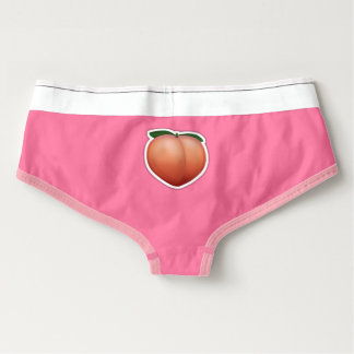 Peach Emoji American Apparel Cotton Spandex Briefs Boyshorts