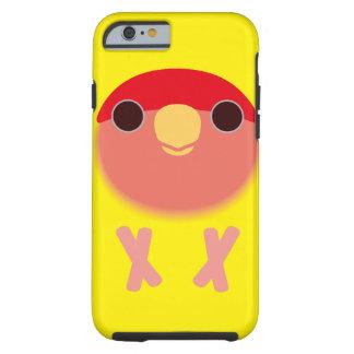Peach-faced Lovebird (Lutino) Tough iPhone 6 Case