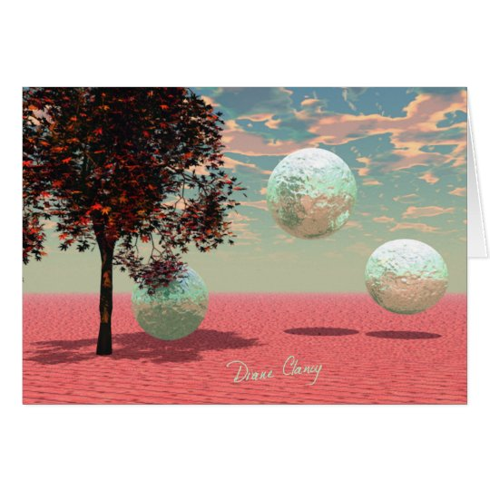 Peach Fantasy – Teal and Apricot Retreat Card