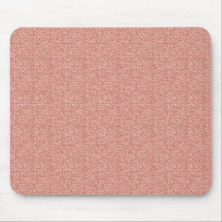 Peach Faux Glitter Mouse Pad