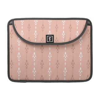 Peach flesh colored dainty wallpaper styled design sleeve for MacBooks