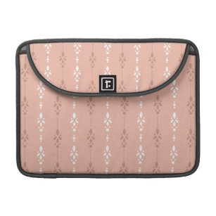 Peach flesh coloured dainty wallpaper styled sleeve for MacBook pro