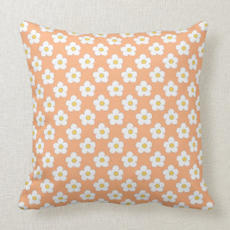 Peach Floral Pillow