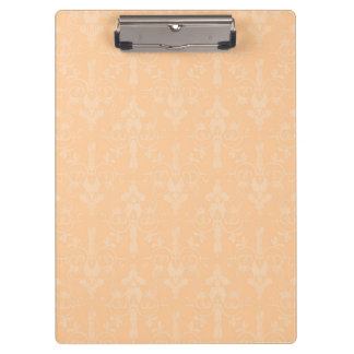 Peach Floral Damask Pattern Clipboards