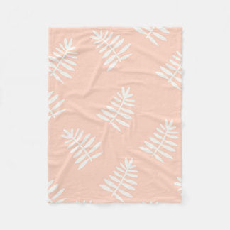 Peach Floral Fleece Blanket